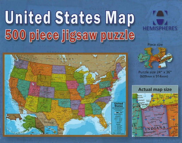 United States Map, 500 Piece Puzzle by Maps International