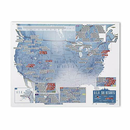 Collect and Scratch, USA Skiing  by Maps International Ltd.