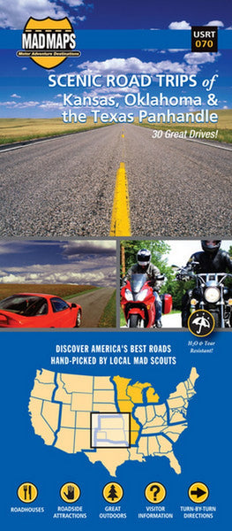 Kansas, Oklahoma, & Texas Panhandle Scenic Road Trip map