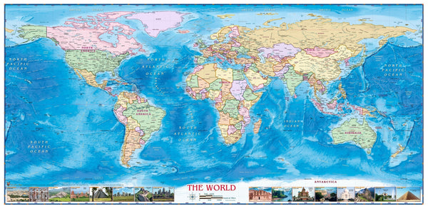 World Political Wall Map By Compart Maps