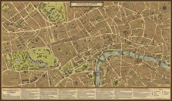Grand Map Of London