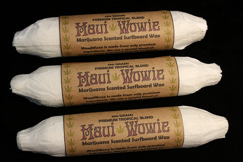 Maui Wowie Marijuana Scented Surfboard Wax - Weed Waxx Collectible Edition