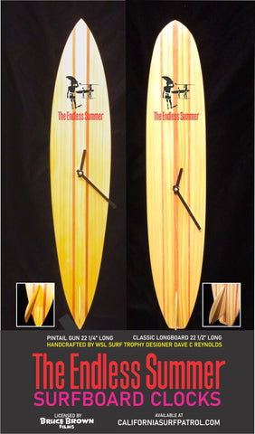 The Endless Summer Surfboard Clock