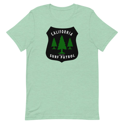 California Surf Patrol Forest Badge Short-Sleeve Unisex T-Shirt