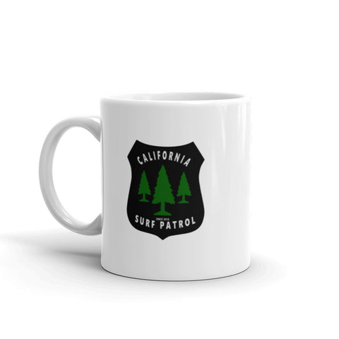 California Surf Patrol Forest Badge Coffee Mug