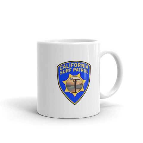 California Surf Patrol Surfer Girl Coffee Mug
