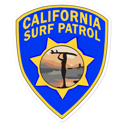 California Surf Patrol Surfer Girl Sticker