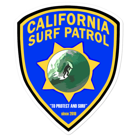 California Surf Patrol Sticker