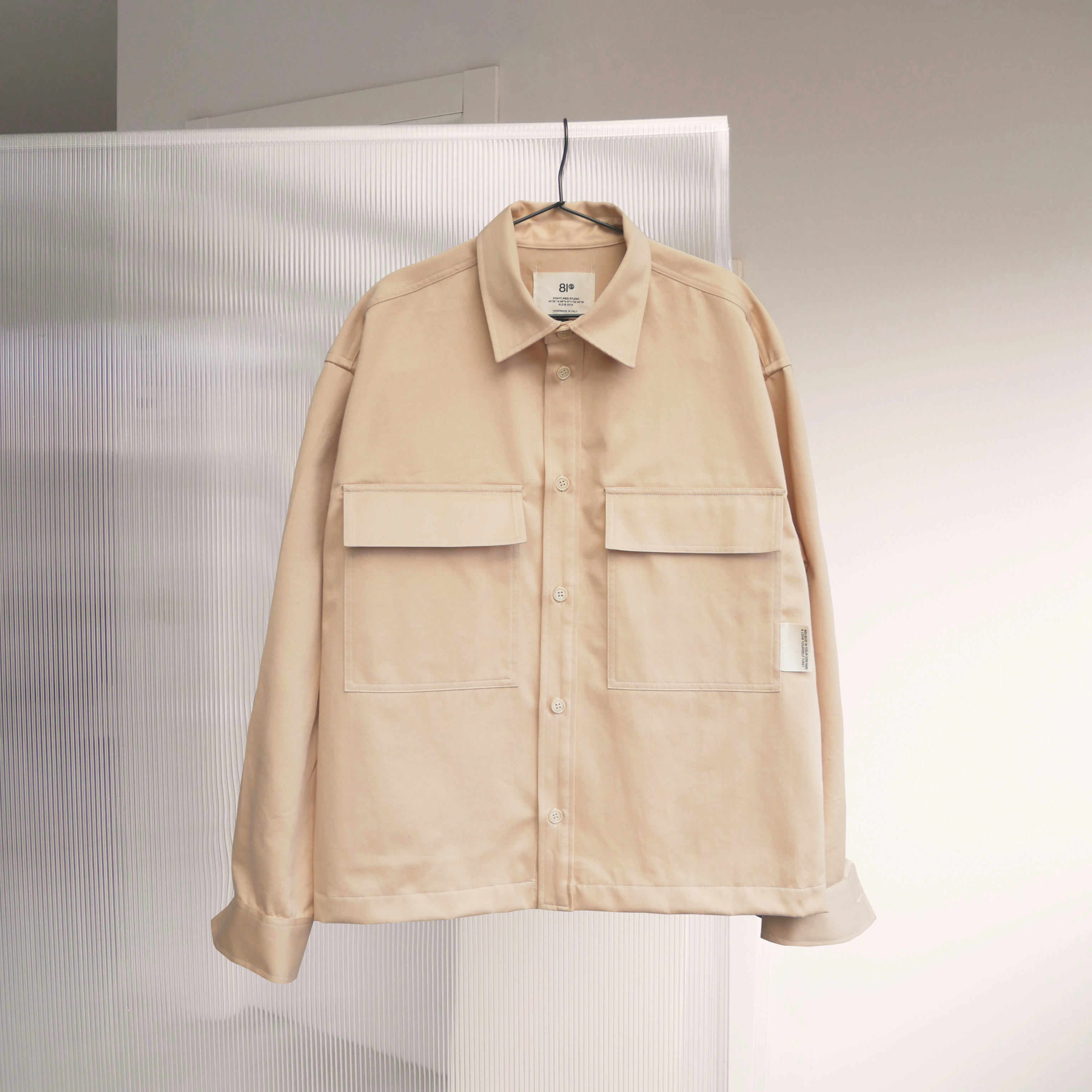 "Load image into Gallery viewer, ""You"" Overshirt - Sand"