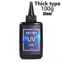 YZY ART UV Resin Hard Ultraviolet Curing Resin Solar Cure Sunlight Activated Kawaii Crafts Transparent Clear Thin/Thick Type
