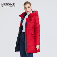 MIEGOFCE 2019 Winter Women Collection Women's Warm Jacket Made With Real Bio Winter Jackets Windproof Stand-Up Collar With Hood