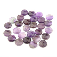 Natural Stones Amethyst Cabochon 8 10 12 14 16 18 20 mm Round No Hole Beads for Making Jewelry DIY accessories Loose Beads