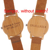 Personality Creative Design Logo MESSAGE Engraved Carved Customize ONLY Logo cost Laser Charge No Watch