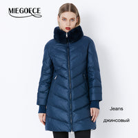 MIEGOFCE 2019 Winter Women's Parka Collection Windproof Women's Thick Coat  European Style Rabbit Fur Collar Women's Warm Jacket
