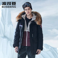 BOSIDENG NEW harsh winter goose down jacket for men thicken outwear real fur hooded waterproof windproof high quality B80142143