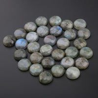 Natural Flash Labradorite Stones Cabochon 10 12 14 16 18 mm Round No Hole for Making Jewelry