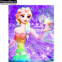 Hot Deals Full 5D Diy Daimond Painting Cross Stitch Frozen Anna Elsa 3D Diamond Painting Rhinestone Painting Embroidery Diamante - the-discounted-stuff