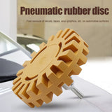 Hot sale Pneumatic Degumming Wheel Rubber Grinding Tire Polishing Wheel  Rubber Pneumatic Degumming Disc Thread  Tool HUG-Deals (Yellow) - the-discounted-stuff