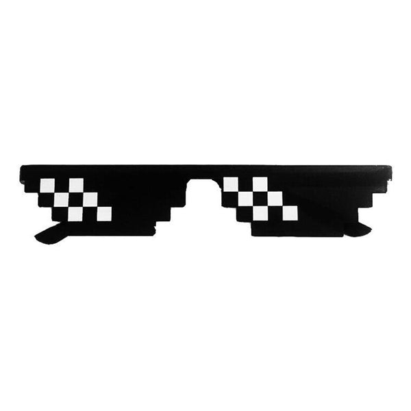 GLTREE 2018 Hot Sale Black Mosaic Sun Glasses 8 Bit Deal With It Glasses Thug Life Glasses Pixel Retro Women Men Sunglasses G404 - the-discounted-stuff
