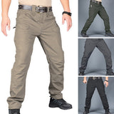 Men's Tactical Pants Casual Autumn Lightweight Water-Resistant Hiking Trousers Outdoor Ridge Cargo Sweatpants Long Homme Pants