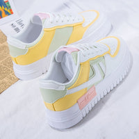 2020 Summer Women Sneakers White Tennis Women Shoes Canvas Slip on Female Row Shoes Platform Flats Casual Ladies Vulcanize Shoes