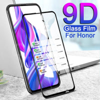 9D Protective Glass For Huawei Honor 9X 9A 9C 9S 8X 8A 8C 8S 9i 10i 20i 20S Play Tempered Screen Protector Glass Safety Film