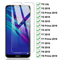 9H Tempered Glass For Huawei Y7 Y6 Y5 Prime 2018 2019 Y5 Lite Protective Glass Huawei Y9 2018 Prime 2019 Screen Protector Glass