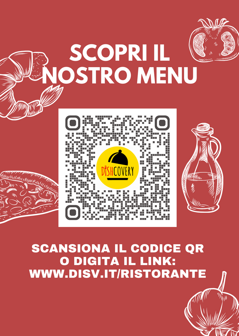 100 o 250 Cartoline A6 Plastificate con Codice QR e Link Menu. Stile: INGREDIENTI