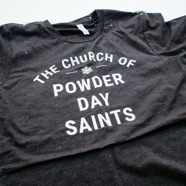 Church of Powder Day Saints Bold Tee