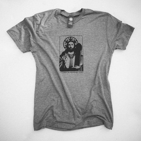 The Church of Powder Day Saints Tee