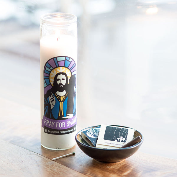 Pray for Snow Prayer Candle