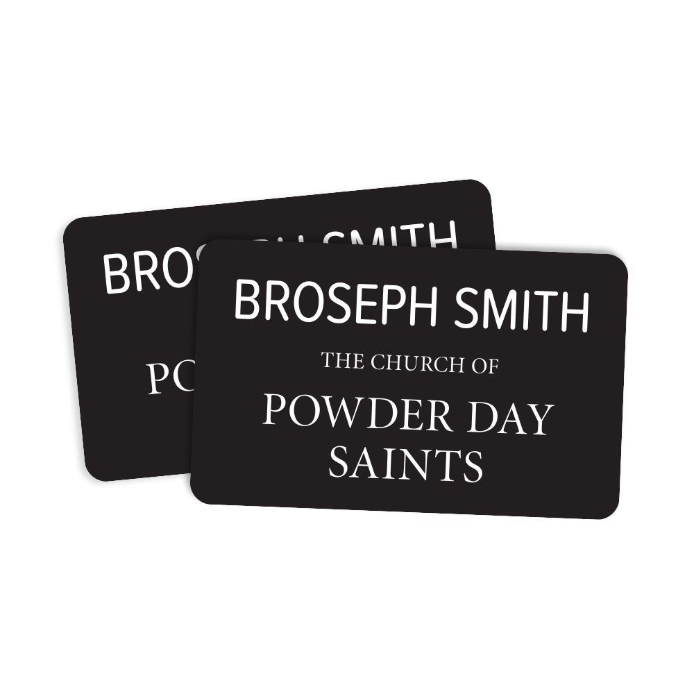 Broseph Smith Missionary Tag Sticker - Pack of 2