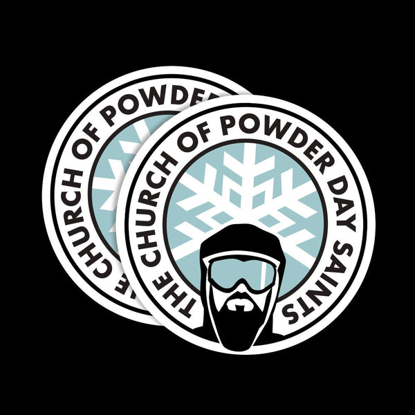 Powder Day Saint Emblem - Pack of 2