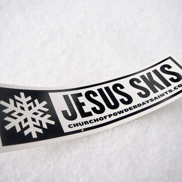 Jesus Skis Sticker - Pack of 2