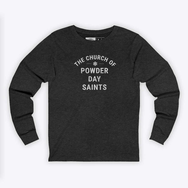 Powder Day Saint Long-Sleeve Bold Tee