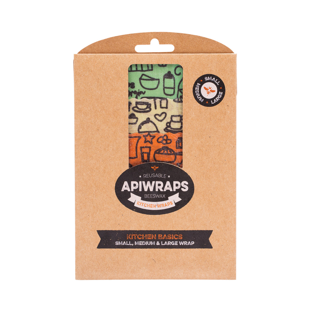 Apiwraps Beeswax Wraps Food Wrap Cheese, Kitchen, Full Sets - GCS Emporium Store