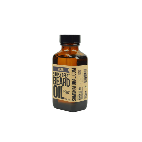 Sam's Natural Handcrafted All Natural Beard Oil Viking 89ml - GCS Emporium Store