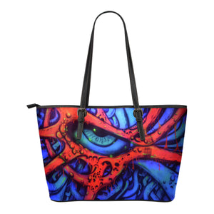 Small Leather Tote - Eyeball 2