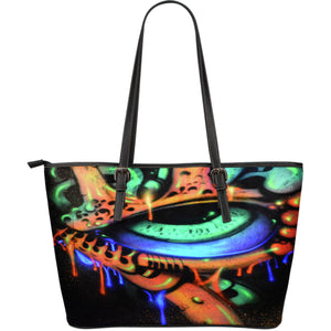 Large Leather Tote - Eyeball