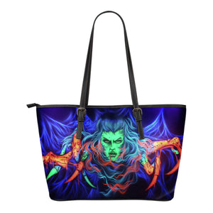 Small Leather Tote - Spider Woman