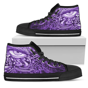 Men's High Top Shoes - Oculus purple