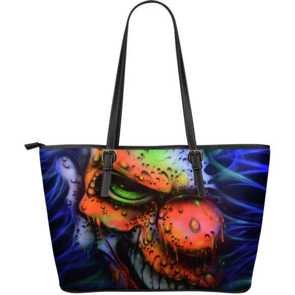 Large Leather Tote - Clown