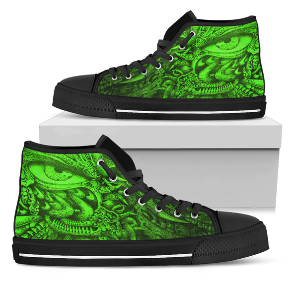 Women's High Top Shoes - Oculus green
