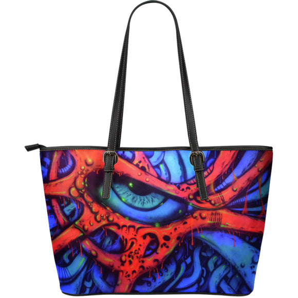 Large Leather Tote - Eyeball 2