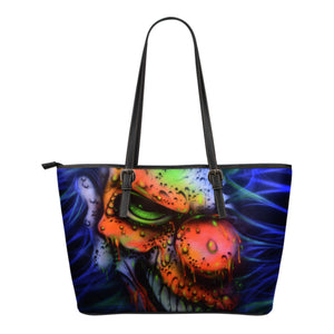 Small Leather Tote - Clown