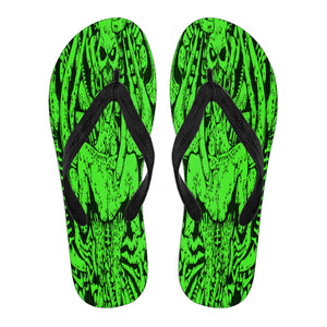 Women's Flip Flops - Green Monster
