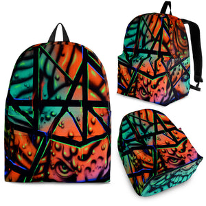 Backpack - Fractal Faces - Express Shipping
