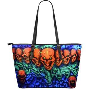 Large Leather Tote - Skull Lineup