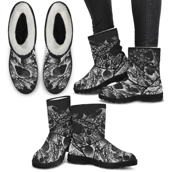 Faux Fur Boots - Barnacles