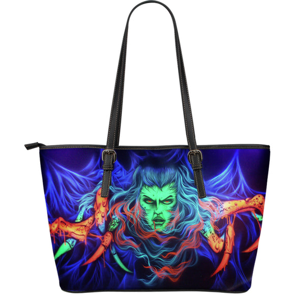 Large Leather Tote - Spider Woman